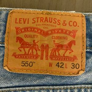 Vintage Men's Levi's 550 Jeans Sz 42 x 30